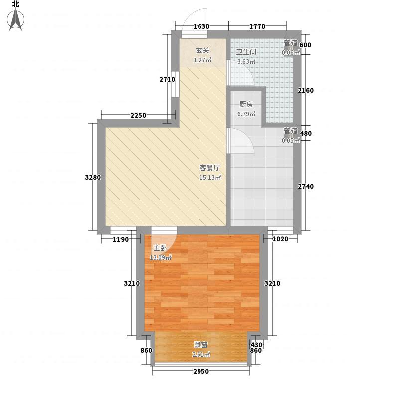东亚印象台湖52.53㎡二期住宅B1反户型