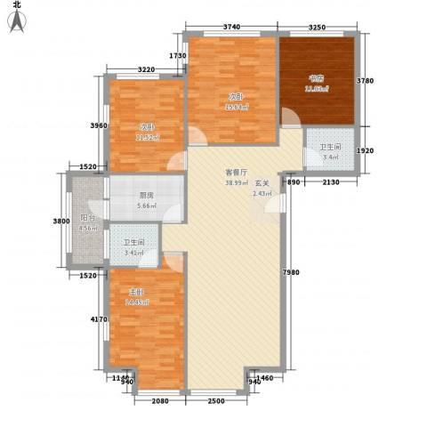罗马花园4室1厅2卫1厨150.00㎡户型图