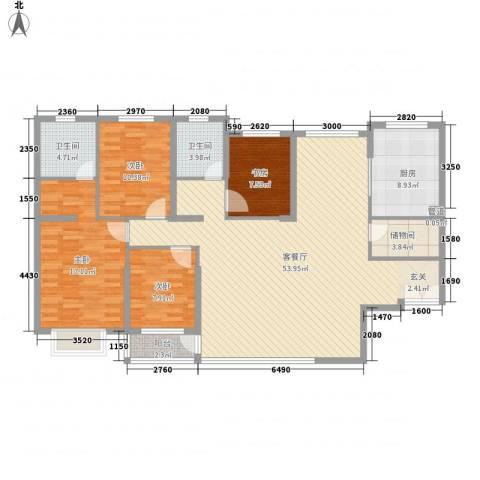 隆欲小区4室1厅2卫1厨169.00㎡户型图