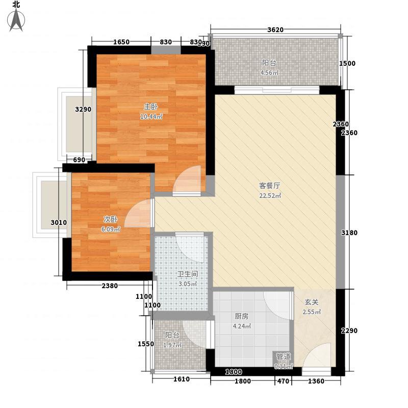 绿景新美域绿景新美域户型图2室2厅1卫1厨户型10室