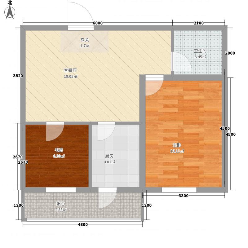金盛花园72.70㎡金盛花园户型图2室1厅1卫户型10室