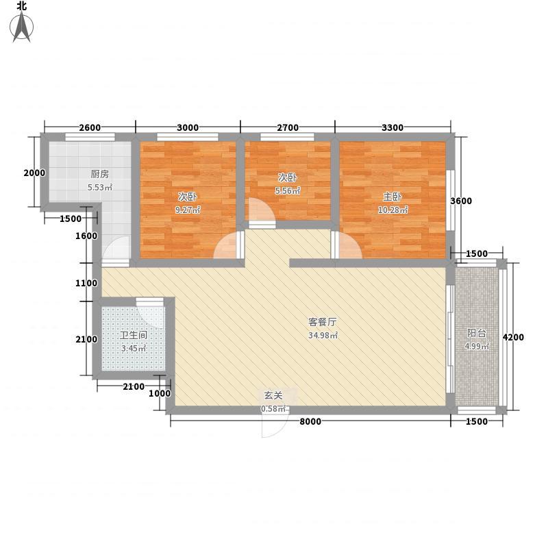 聚和园115.00㎡户型3室2厅1卫1厨
