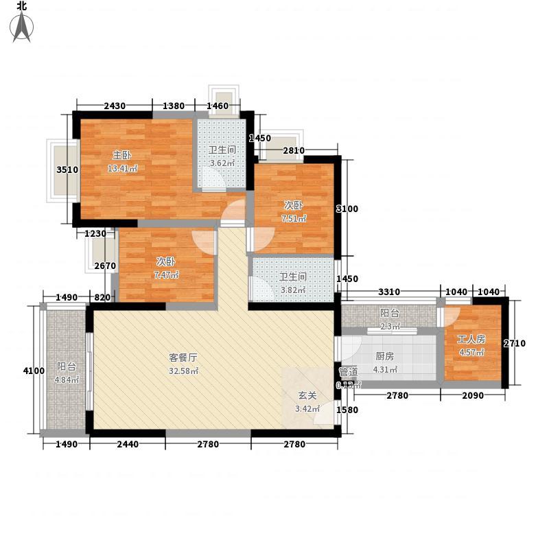 绿景新美域绿景新美域户型图3室2厅2卫1厨户型10室