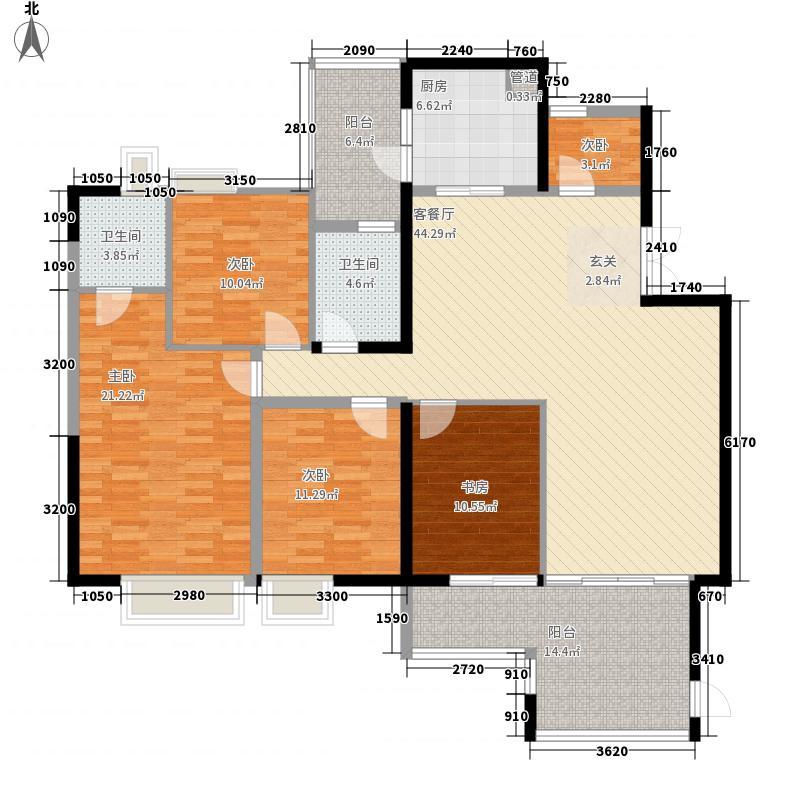 云山诗意181.50㎡1栋2单元01户型4室2厅2卫