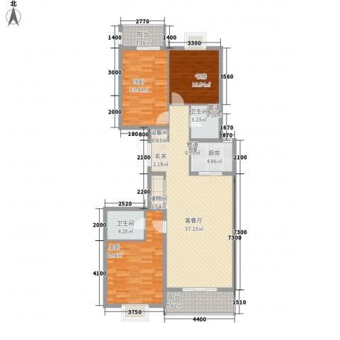 郡宇・万象城3室1厅2卫1厨140.00㎡户型图