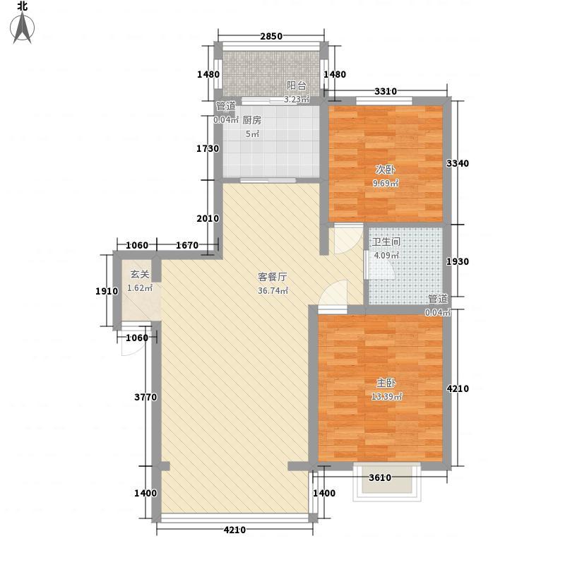 莲岳里7.00㎡户型2室