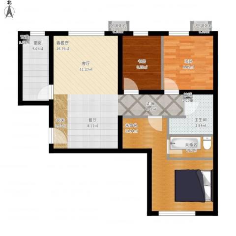 首创·悦都汇2室1厅1卫1厨97.00㎡户型图