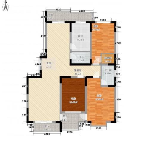 仁爱濠景庄园3室1厅2卫1厨175.00㎡户型图
