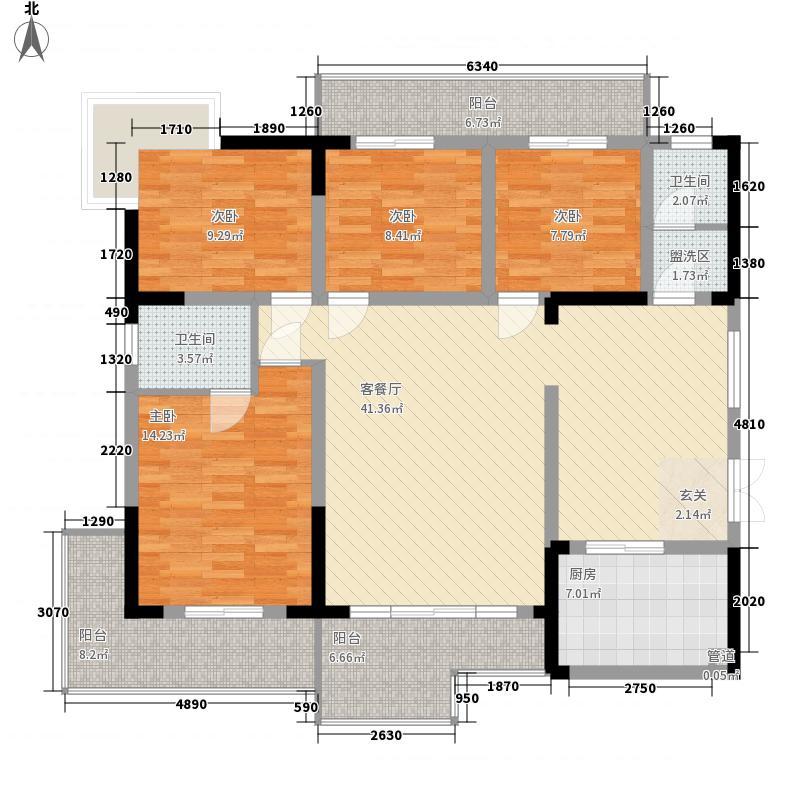 星城书院145.57㎡1-2栋A1面积14557m户型