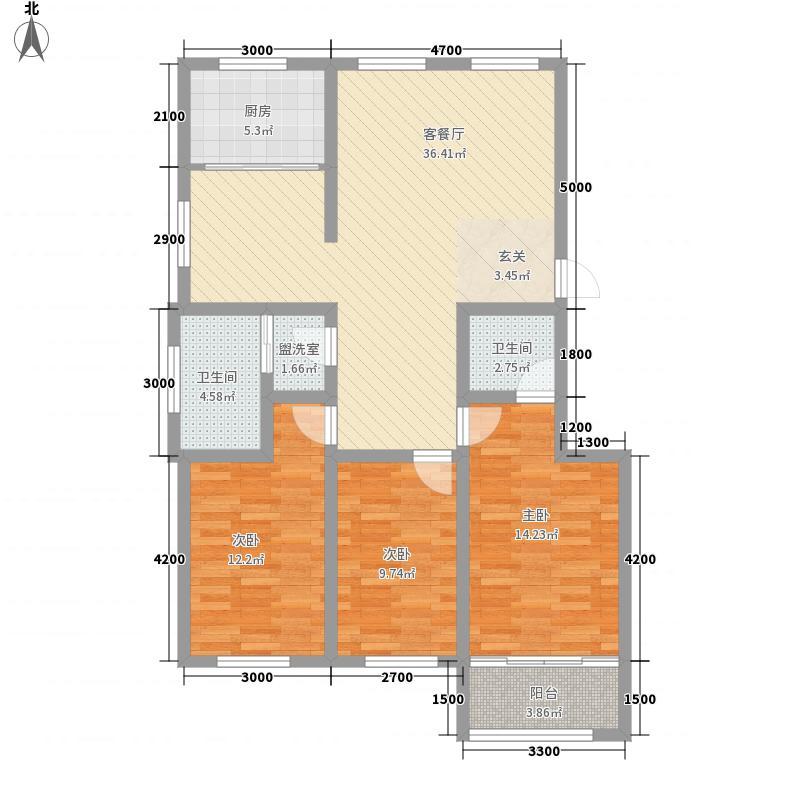 李家夼户型2室2厅1卫1厨