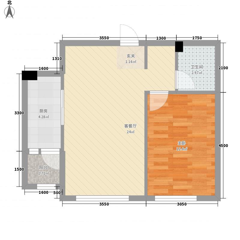 哈佛特区项目46.18㎡1户型1室1厅1卫1厨
