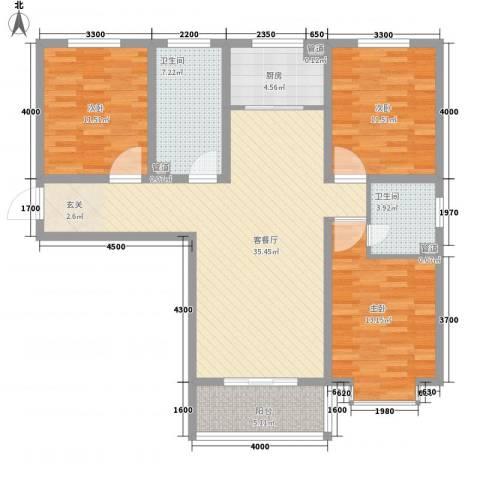 旭丰惬意空间3室1厅2卫1厨139.00㎡户型图