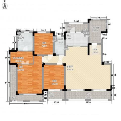 悦上海3室1厅2卫1厨148.00㎡户型图