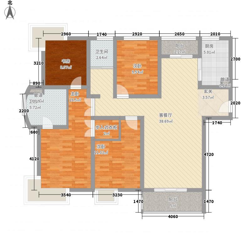 宁静花园155.00㎡宁静花园3室户型3室