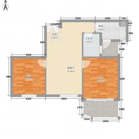 嘉宝花园二期2室1厅1卫1厨89.00㎡户型图