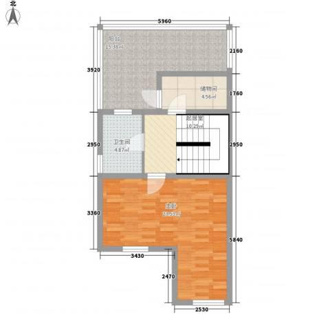 绿海田园1室0厅1卫0厨84.00㎡户型图