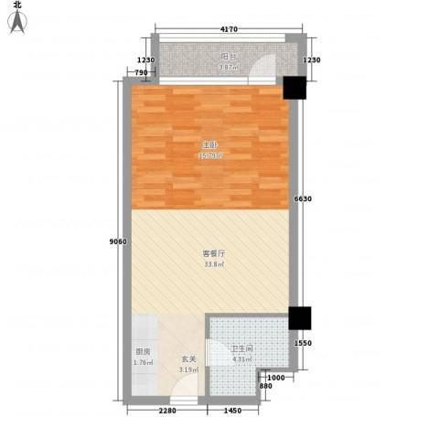世昌991厅1卫0厨58.00㎡户型图