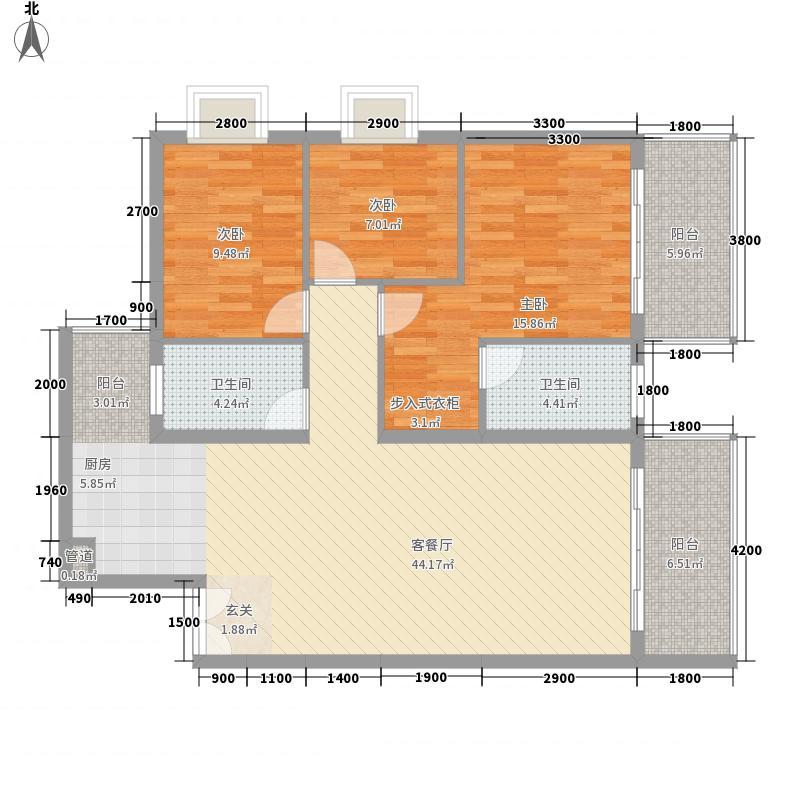 禧诚雁巢121.62㎡禧诚雁巢户型图C-06号户型3室2厅2卫1厨户型3室2厅2卫1厨