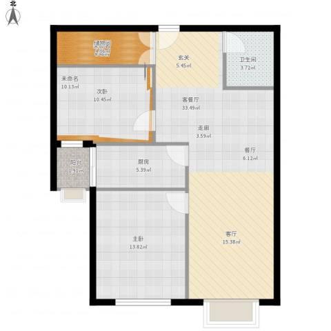 东洲家园1室1厅1卫1厨80.95㎡户型图