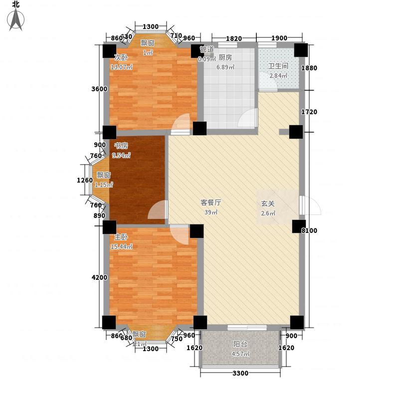 凤凰城家家景园122.12㎡凤凰城家家景园户型图3室2厅1卫1厨户型10室