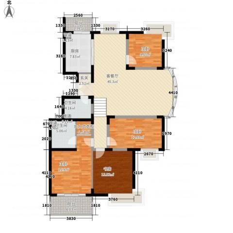 红谷现代城4室1厅2卫1厨178.00㎡户型图
