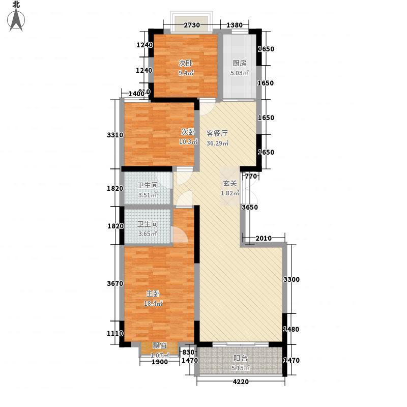 北苑小区・红梅园47户型3室2厅2卫1厨