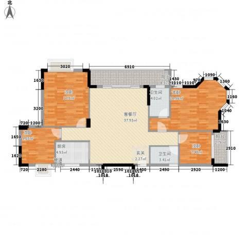 大步海滨花园三期4室1厅2卫1厨149.00㎡户型图
