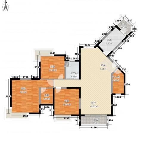 浩天天娇源4室1厅1卫1厨181.00㎡户型图