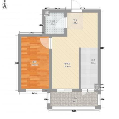 怡园绿景1室1厅1卫0厨45.00㎡户型图