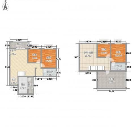 双语雅苑4室1厅2卫1厨209.00㎡户型图