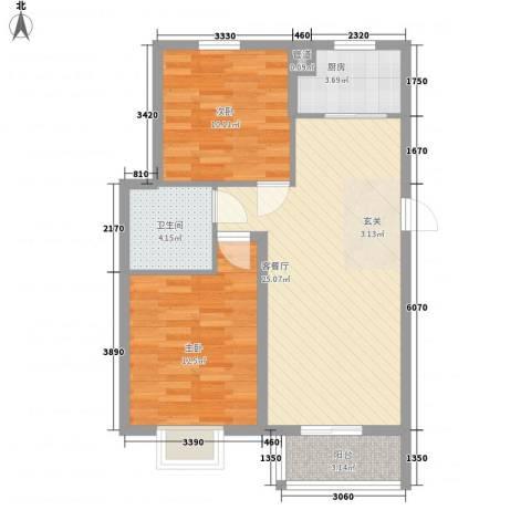 汇景豪庭2室1厅1卫1厨84.00㎡户型图