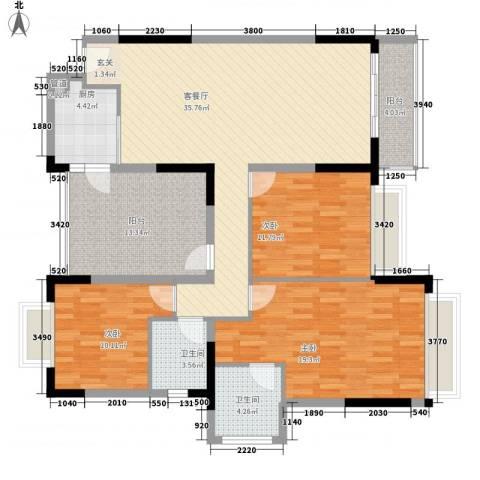 市府小区宿舍3室1厅2卫1厨150.00㎡户型图