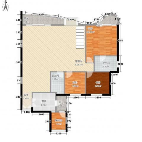 丽阳天下3室1厅2卫1厨176.00㎡户型图