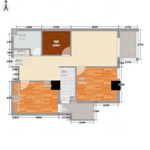 东岸未来城3室1厅1卫0厨116.00㎡户型图