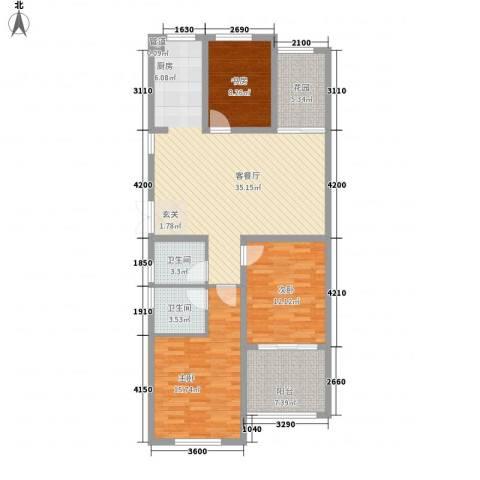 嘉盛龙庭3室1厅2卫0厨120.00㎡户型图