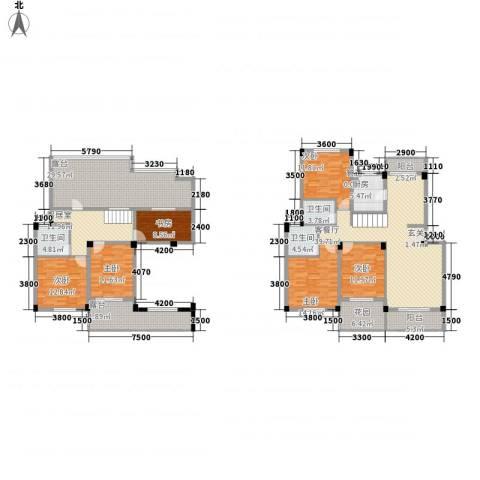 香榭丽都6室1厅3卫1厨197.02㎡户型图