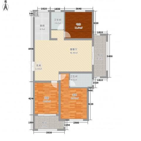 嘉盛龙庭3室1厅2卫0厨139.00㎡户型图