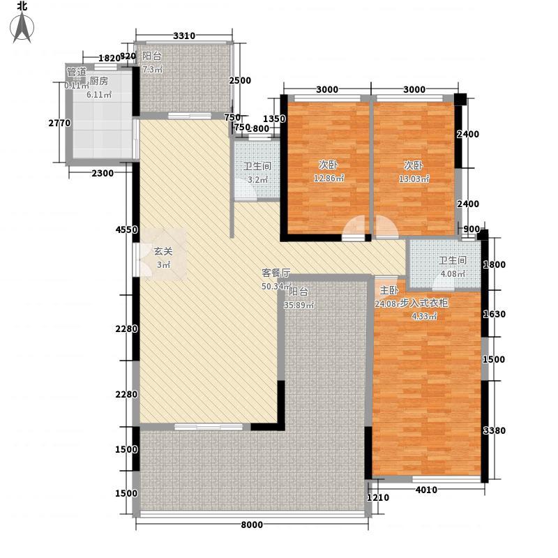 联发五缘湾1号155.00㎡L户型4室2厅2卫1厨