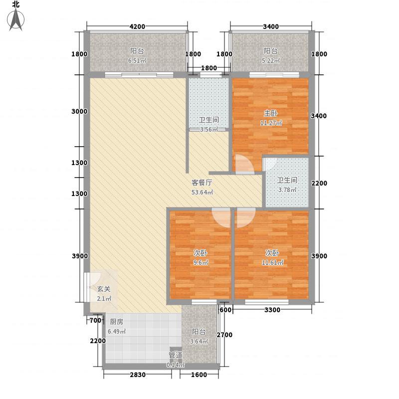 禧诚雁巢130.94㎡禧诚雁巢户型图C-04号户型3室2厅2卫1厨户型3室2厅2卫1厨