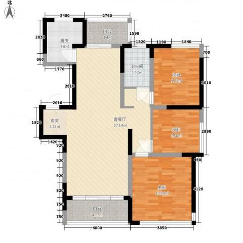 园景天下3室1厅1卫1厨155.00㎡户型图