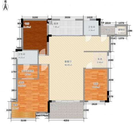 徽商城市风景3室1厅2卫1厨145.00㎡户型图