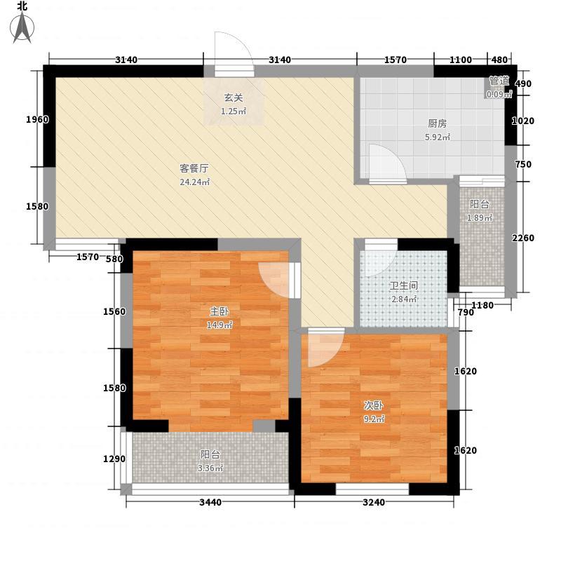 杏林小区85.00㎡杏林小区户型图杏林花园2室户型图2室2厅1卫1厨户型2室2厅1卫1厨