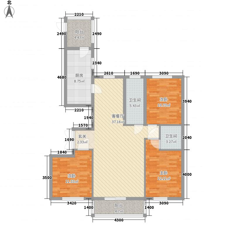 力挽秀水华宸139.00㎡力挽秀水华宸户型图B3户型3室2厅2卫1厨户型3室2厅2卫1厨