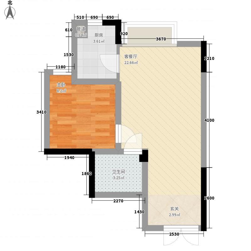 都市花园50.25㎡都市花园户型图1室1厅1卫1厨户型10室