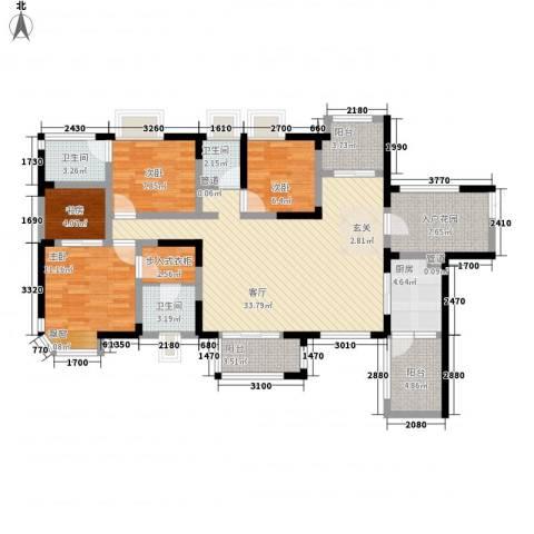 融创御锦4室1厅3卫1厨98.96㎡户型图