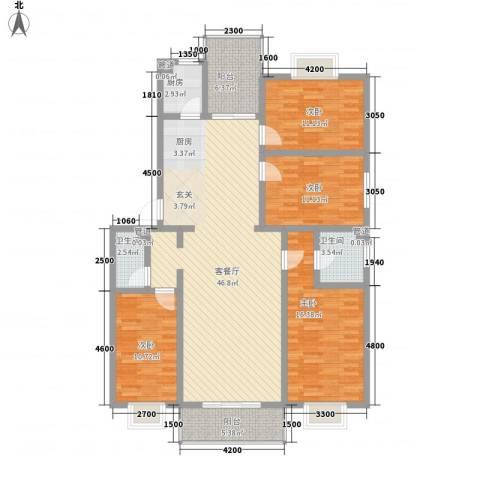 文景苑4室1厅2卫1厨163.00㎡户型图
