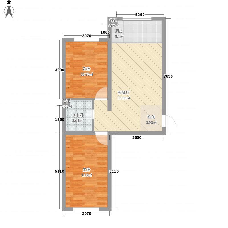 中华家园79.00㎡中华家园户型图三期27号楼4层D户型2室1厅1卫1厨户型2室1厅1卫1厨