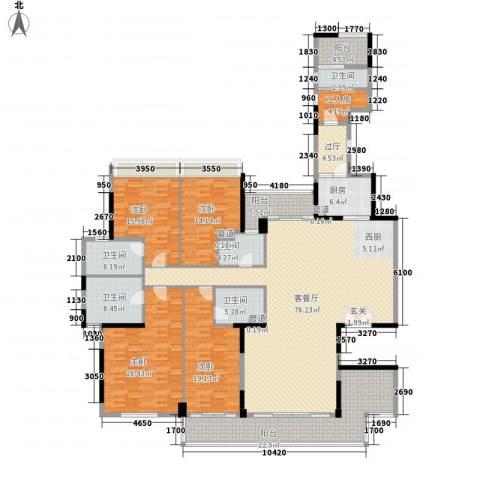 泷景花园4室1厅5卫1厨269.00㎡户型图