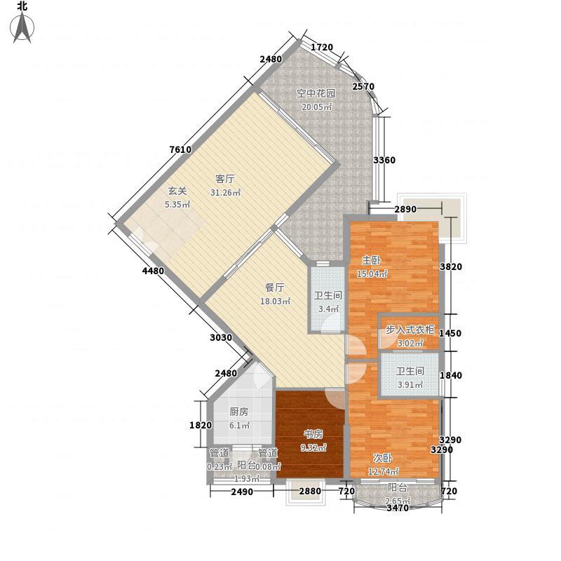 滨江明珠180.00㎡滨江明珠户型图A栋5-21层043室2厅2卫1厨户型3室2厅2卫1厨