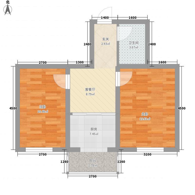 圣华庭65.19㎡圣华庭户型图2室1厅1卫户型10室
